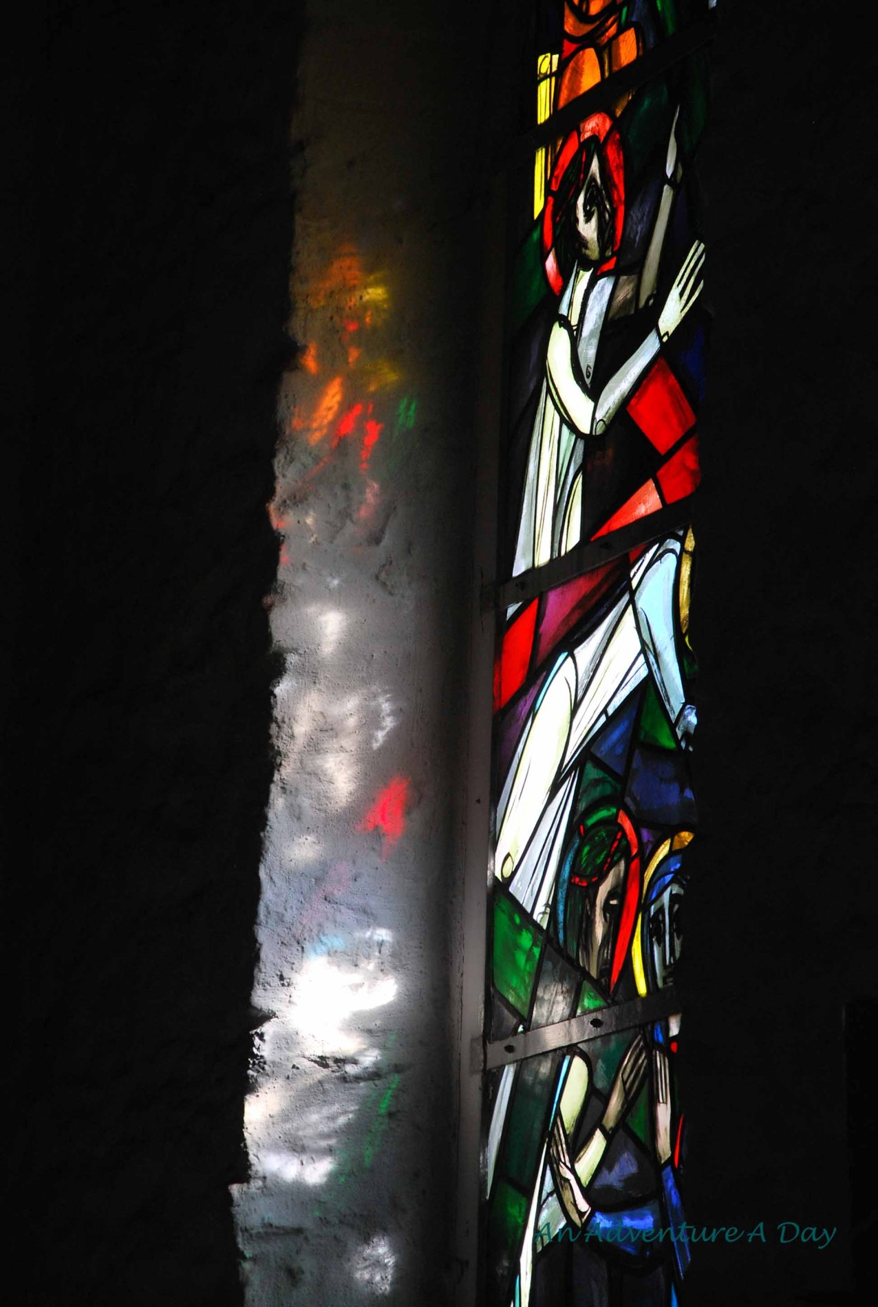 Light shining through a stained glass window is always a lovely sight
