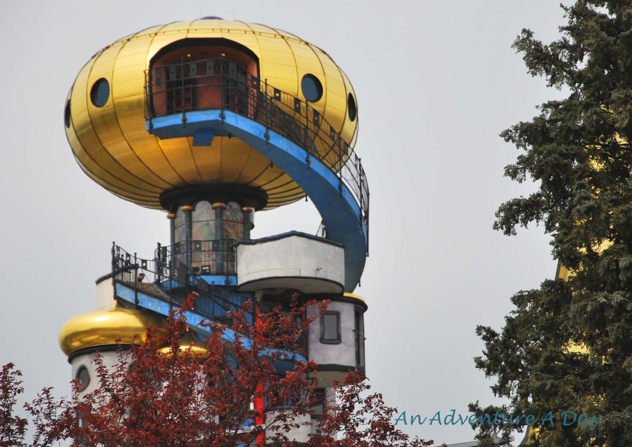 The golden dome of the Hundertwasserturm is the first indication that the Kuchlbauer Brewery is not your average Bavarian brewery.