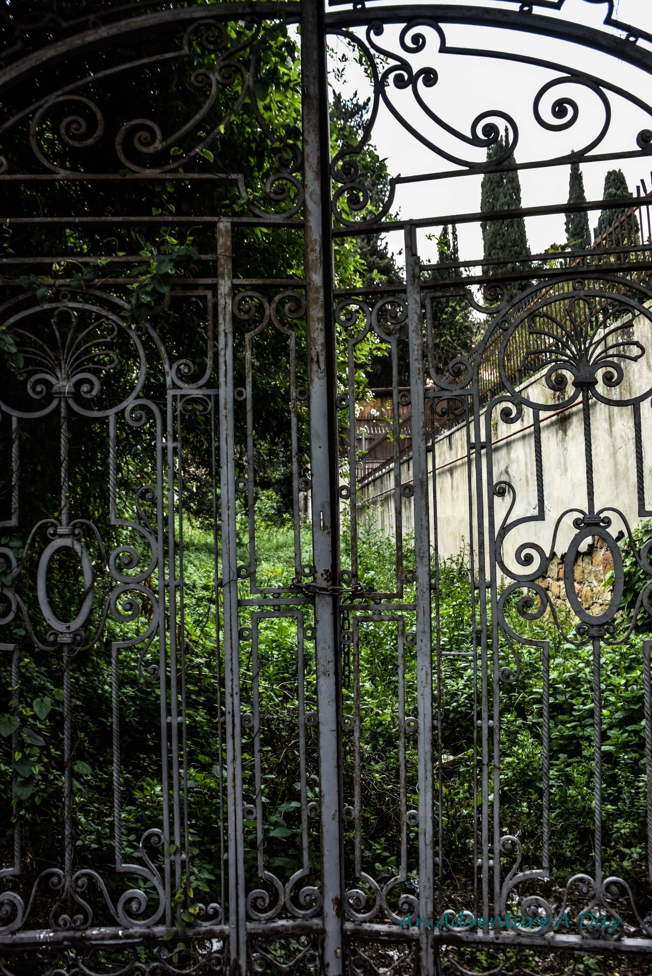 Does a locked gate keep us any more secure? Time passes, and the world passes us by behind the illusion of security.