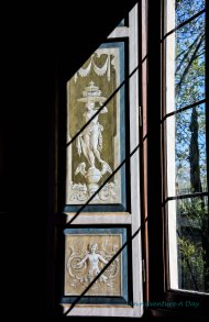 I love the details you find even in the doors and blinds of these grand homes.