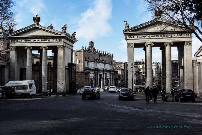 View of Piazza del Popolo from Villa Borghese