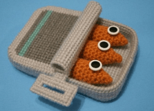 Crocheted sardines from best-post.com