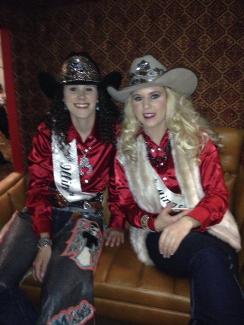 Miss Rodeo Illinois with Miss Rodeo Minnesota.