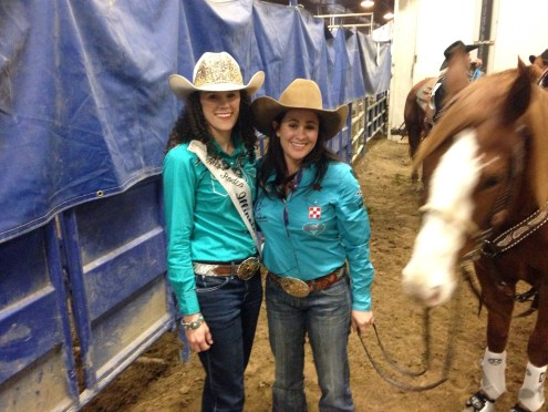 Miss Rodeo Illinois with Brittany Pozzi.