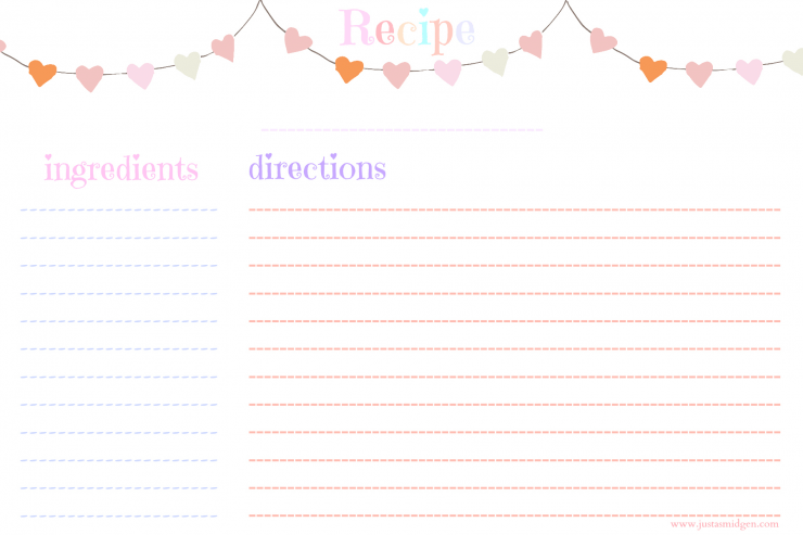 Free Printable Valentines Day Recipe Cards Just A Smidgen
