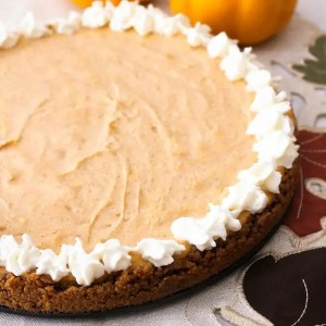 Pumpkin Cheesecake – Gluten Free, Eggless