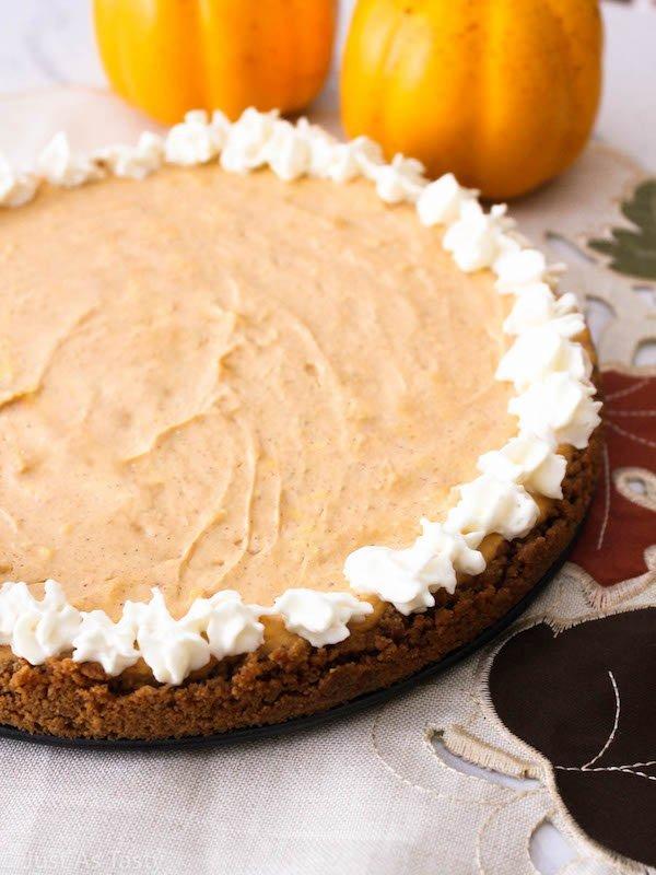 Pumpkin Cheesecake – Gluten Free, Eggless