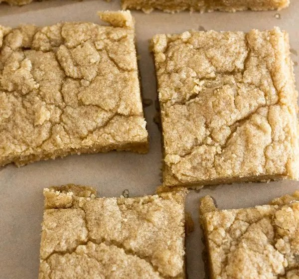 Blonde Brownies – Gluten Free, Eggless