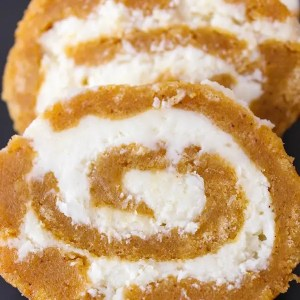 Pumpkin Cream Cheese Roll – Gluten Free, Eggless