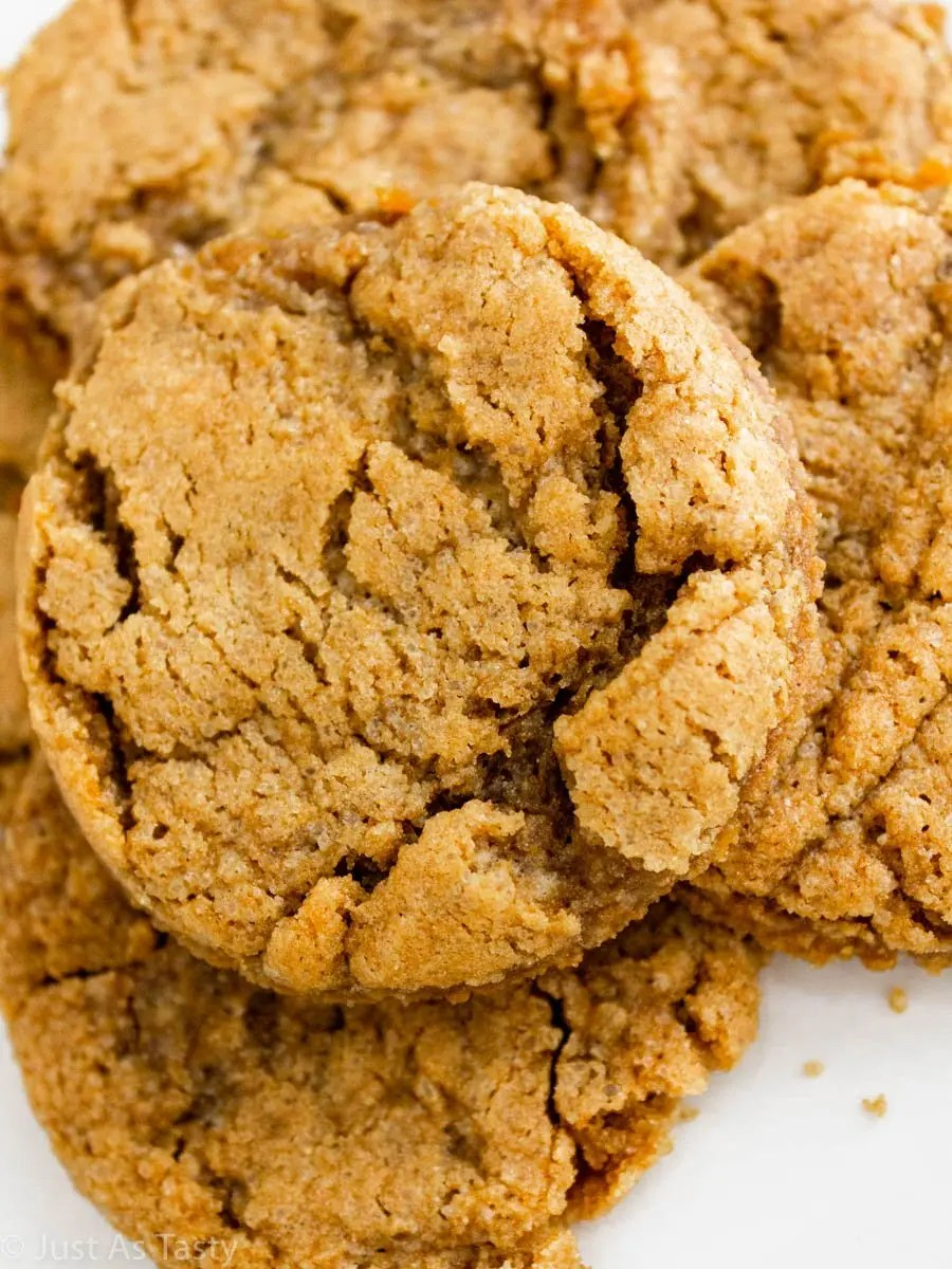 Close-up of gluten free maple cookies.