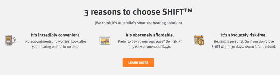Three reasons to choose Shift hearing aids