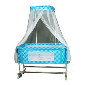 Tinnies Baby Crib With Canopy Net