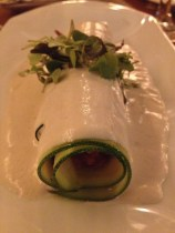 Cashew cheese and courgette