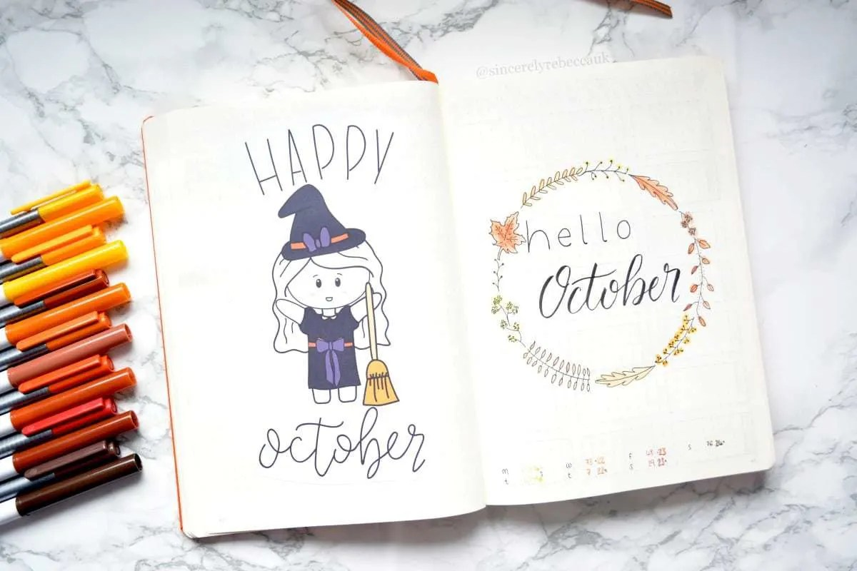 32 Fabulous October Bullet Journal Themes Halloween Fall