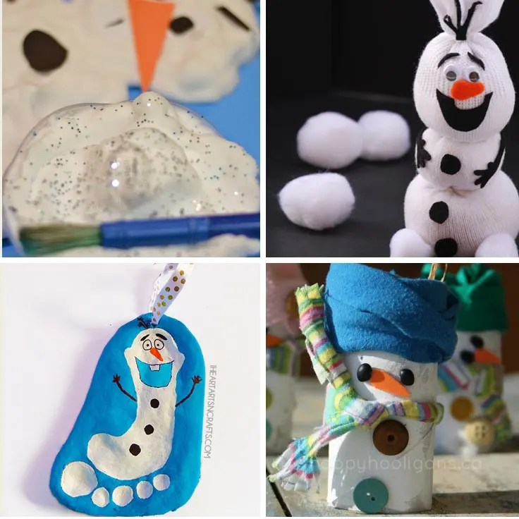 12 Easy Snowman Crafts For Kids To Make And Other Fun