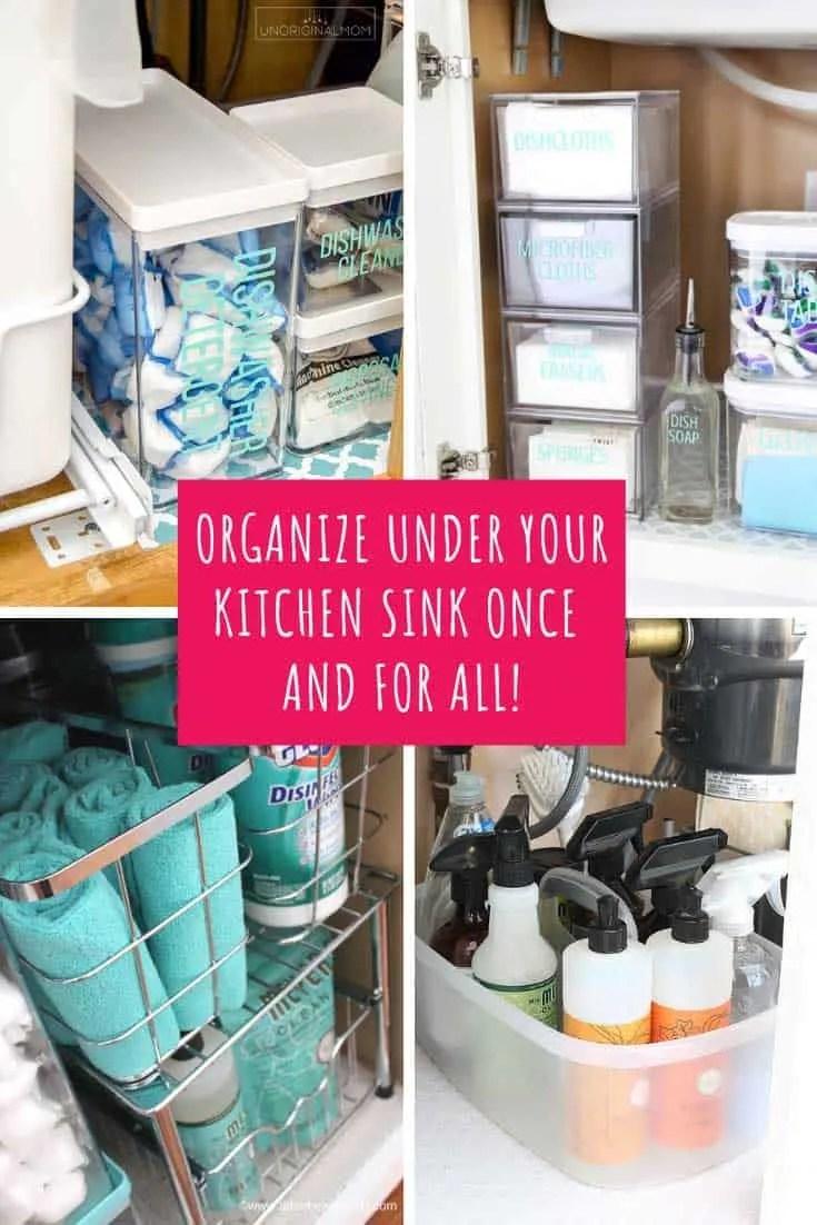 under kitchen sink storage hacks