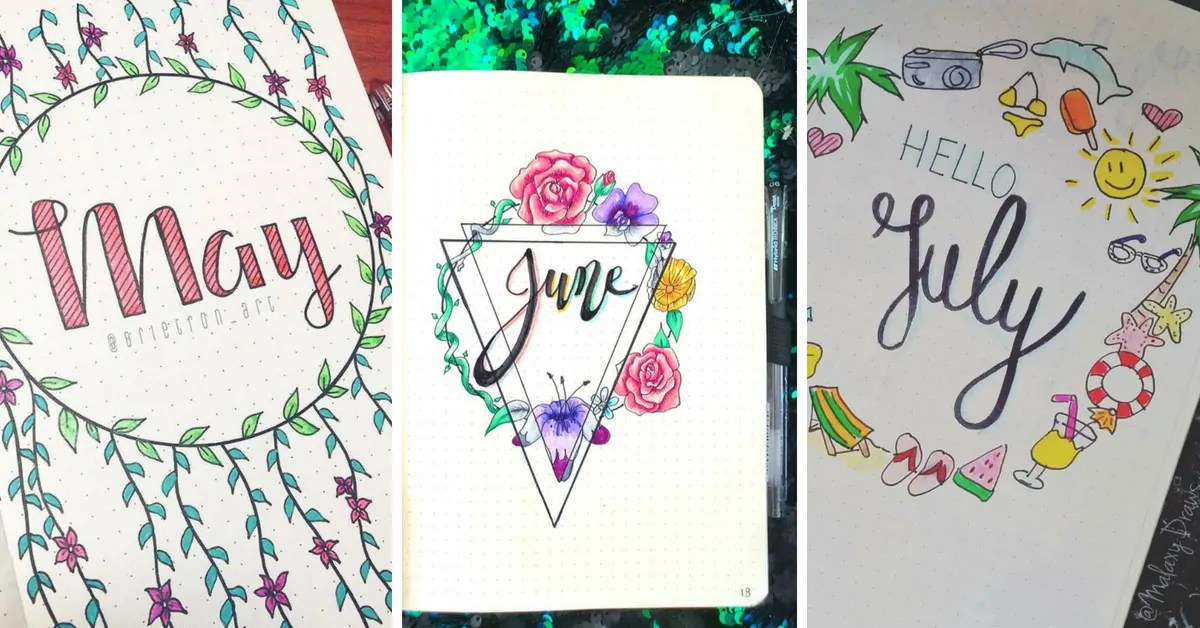Monthly Bullet Journal Themes Pick A Different Theme For
