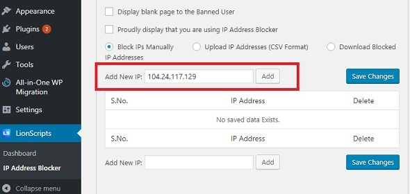 How to Block IP Address from accessing your website