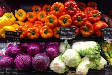 vegetables at a grocery store