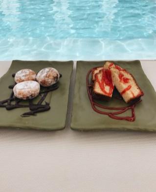Chocolade donuts & Cake met aardbei