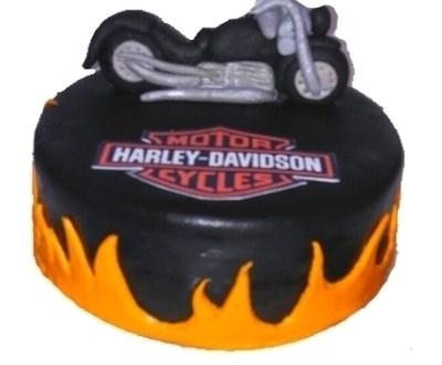 Harley Davidson Shaped Cake