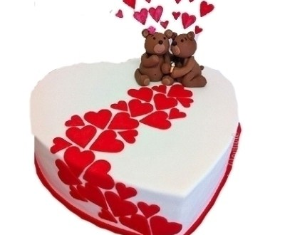 Love Forever - Valentine's Day Heart Cake