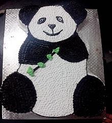 Panda Shaped Cake