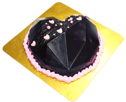 Heart Diamond Pinata Cake in Pune