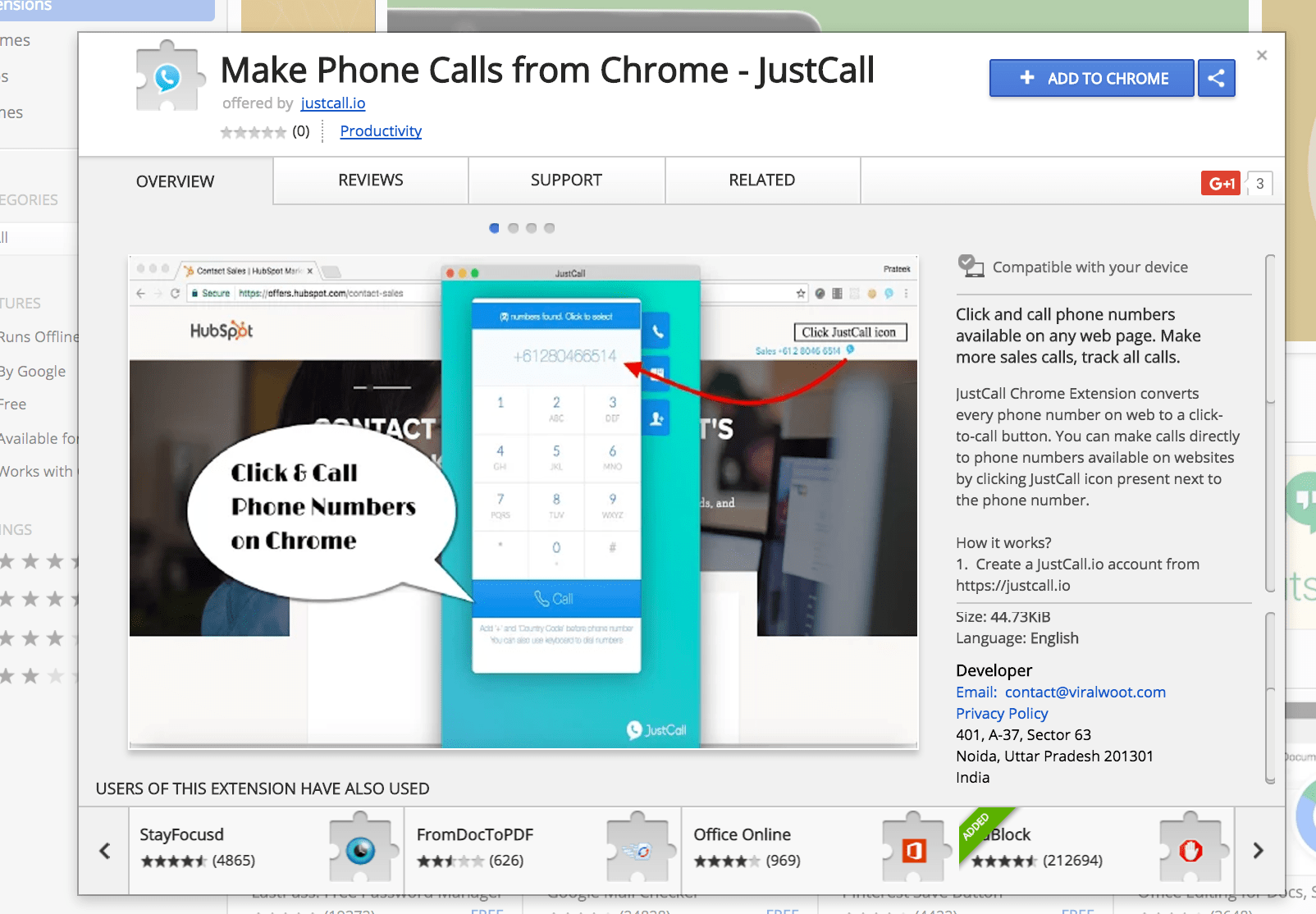 Download Make Phone Calls from Google Chrome   Justcall Blog