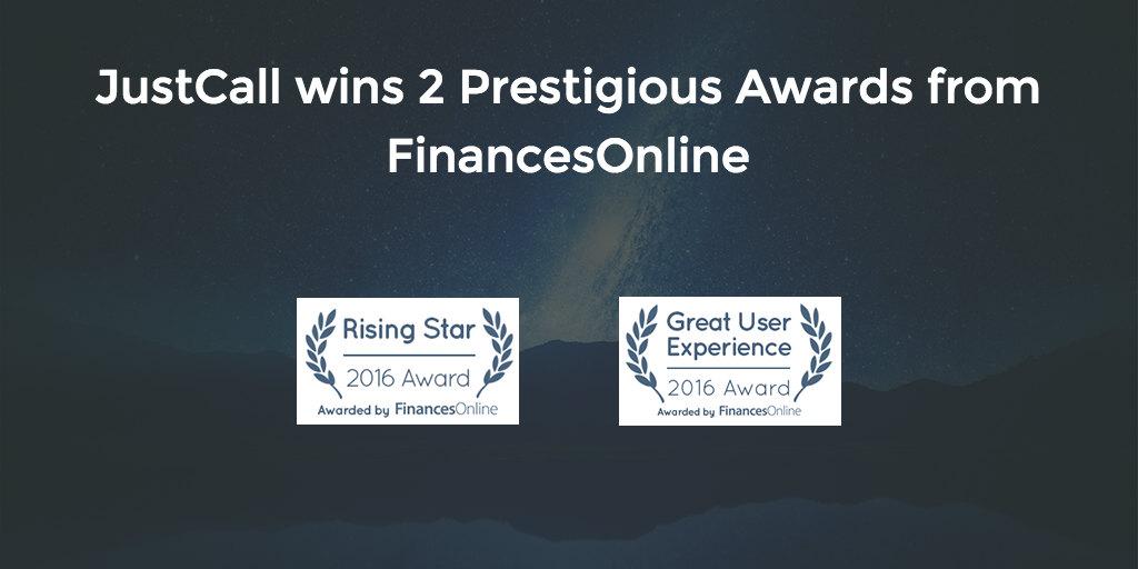 JustCall Wins Awards