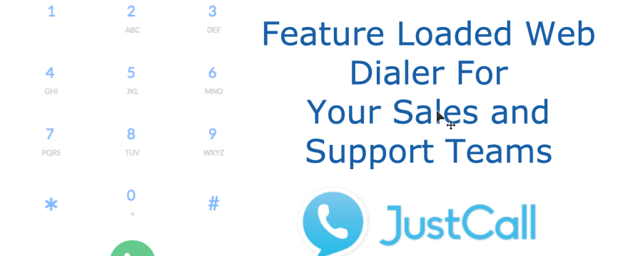 New JustCall Web Dialer