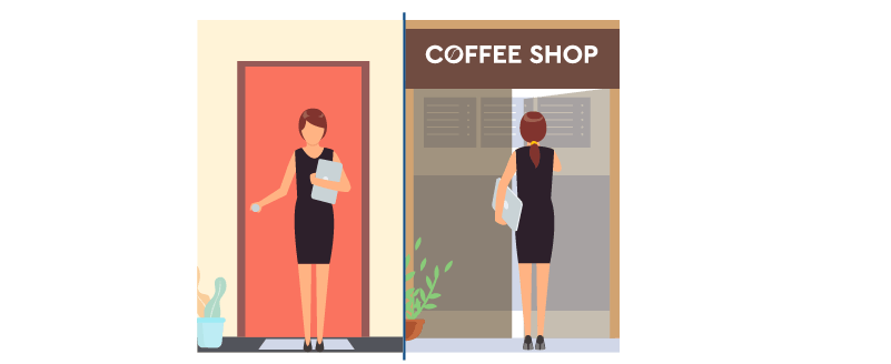 coffee shop for work near your house