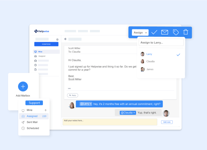 dashboard Helpwise - remote customer support