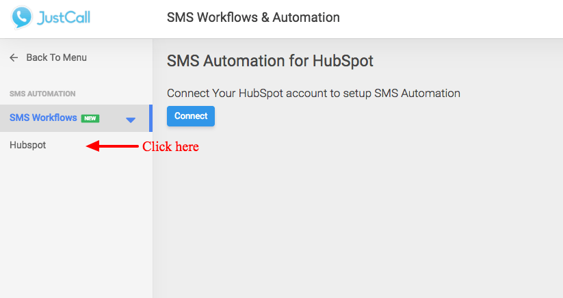 JustCall-HubSpot-SMS-Automation