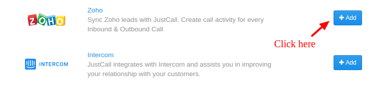 Zoho Justcall Integration
