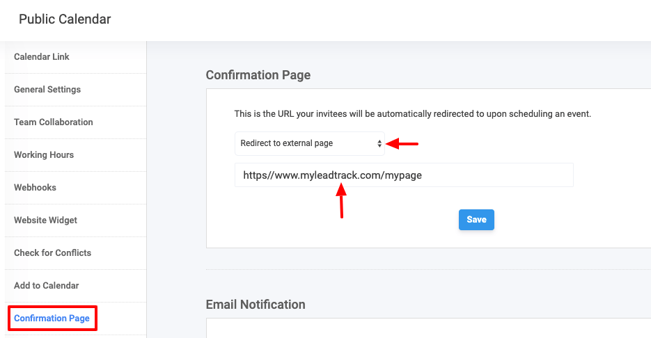 Appointment Scheduler - Confirmation page