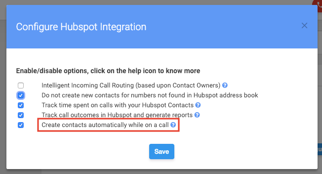 hubspot advance setting
