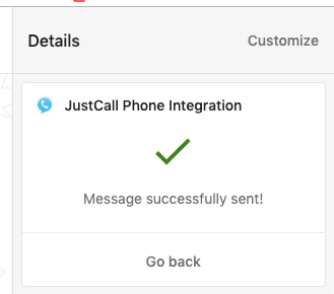 SMS sent from Intercom