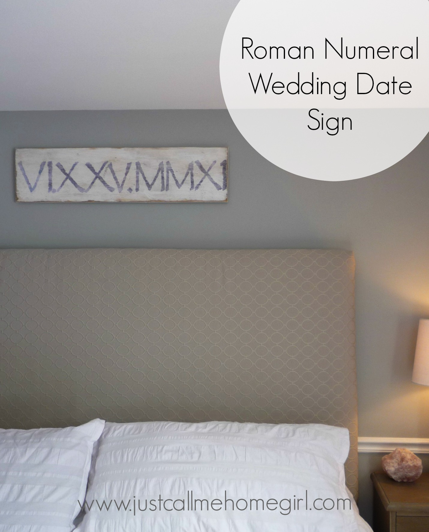 Roman Numeral Wedding Date Sign
