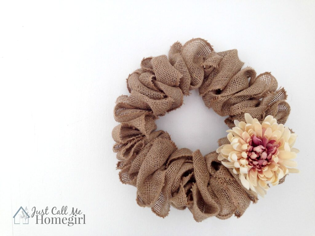 Easiest Burlap Wreath by Just Call Me Homegirl