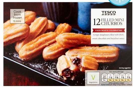 Tesco Vegan Churros party food