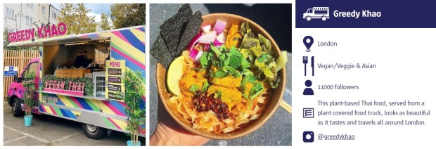 greedy khao london vegan street food truck