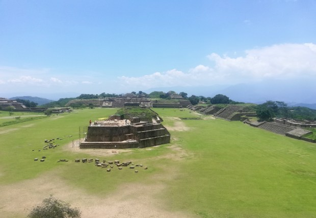 Monte alban Oaxaca panorama view
