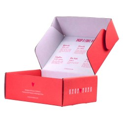 Printed shipping box