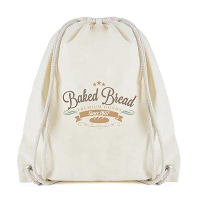 custom printed cotton drawstring bag