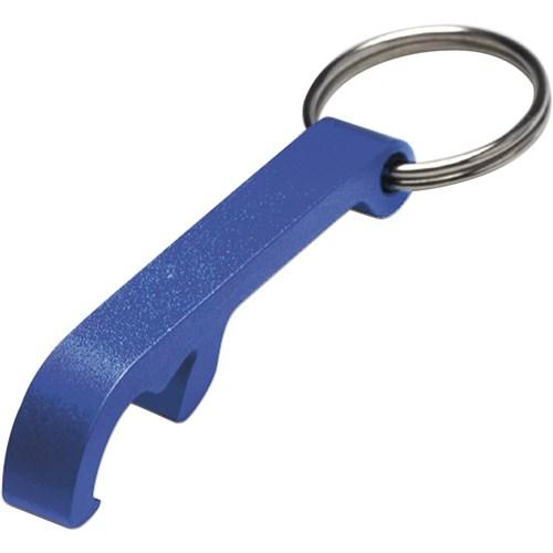 bottle opener keyring blue