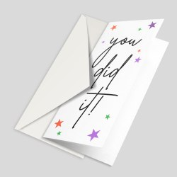 A6 greeting card