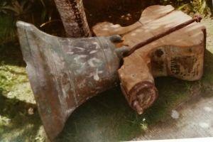 The Maribojoc Church bell fell, but did not break.