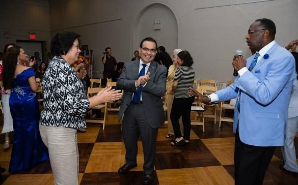 Linwood Peel brings Amb. and Ms. de Leon to the dance floor.