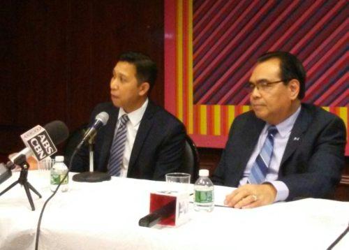 Councilman Alvin Amatorio, Consul General Mario Lopez de Leon Jr., and Consul Bong Carino